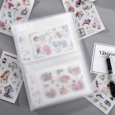 Transparent Matte PVC Scrapbook Sticker Storage Sheet Pocket Photo Album Holder