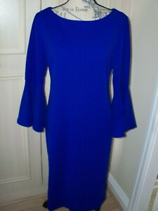 NEW QVC RONNI NICOLE Bell Sleeve Shift Dress Choice of Colour / Size