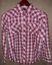 Red//Orange Free Shipping! Wrangler Shirt RWL94OR Long Sleeve-Plaid
