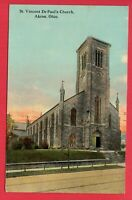 AKRON OH ST VINCENT DE PAUL CHURCH 1912  ROSE NEDER DAYTON OHIO  POSTCARD