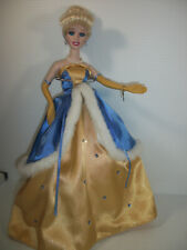 Disney The Brass Key Doll Cinderella Collectible Porcelain Gold & Blue Dress