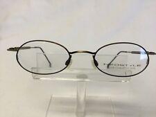bdd552b4475 Vintage NeoStyle Eyeglasses College 151 Antique Gold Oval Art Deco Metal  Hippy