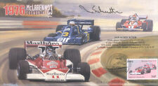 1976 McLAREN-COSWORTH TYRRELL-COSWORTH FERRARI USA F1 cover signed IAN SCHECKTER