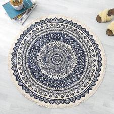 Teppich Läufer mit Fransen Rund Baumwolle  klassisch vintage Muster