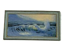 MINIATURE Artisan Signed Cynthia Eastman-Roan ORIGINAL Oil Painting Evening Song