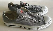 Converse All Star Grey And White No Lace Size Men's 6.5 Women's 8.5