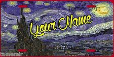 STARRY NIGHT Van Gogh License Plate  personalized