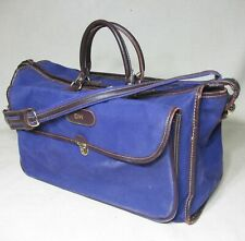 T ANTHONY VINTAGE PURPLE CANVAS LEATHER TRIM DUFFLE WEEKENDER CARRY ON BAG
