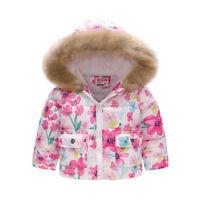 Toddler Baby Winter Warm Coat Outerwear Boy Hooded Jacket Windbreaker Clothes