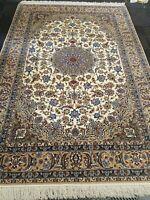 FINE PERSIAN ORIENTAL RUG 550 KPSI WOOL On SILK 5.2 x 7.8 ISFA HAN