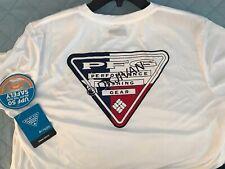 Columbia Pfg Terminal Tackle Longsleeve White Fishing Swimming Shirt Xxl Men Nwt