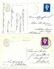 NEDERLAND-S.M.N. 1947/48 =JOHAN VAN OLDENBARNEVELT =2 x  PCC SHIP POSTAGENT FINE