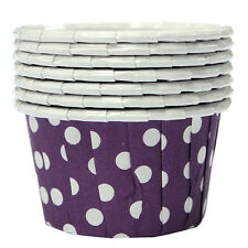 100X Cupcake Wrapper Paper Cake Case Baking Cups Liner Muffin Purple HY