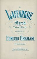 Laffargue March and Two Step for the Pianoforte from 1912 by Edmund Braham