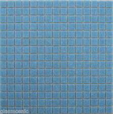 1 m² Glasmosaik Mosaik Fliesen Dusche Pool Farbe Delfin- Blau- Grau