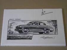AIRFIX RENAULT DAUPHINE ORIGINAL ROY CROSS ARTWORK