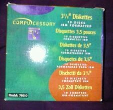 "Compucessory 3 1/2"" 1.44Mb Ibm Formatted Diskettes Floppy Disks box of 10 discs"