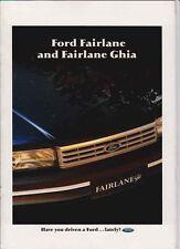 1991 FORD NC FAIRLANE Prestige Brochure