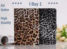 PU Leather Case Cover Stand Leopard print for Mini i Pad+Free Screen protector