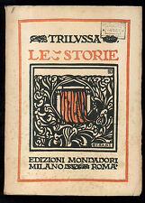 TRILUSSA LE STORIE MONDADORI 1923 COPERTINA CISARI