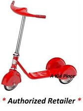 MORGAN CYCLE RED STEEL 3 WHEEL SCOOTER VINTAGE RETRO 1930'S STYLE - KIDS - NEW