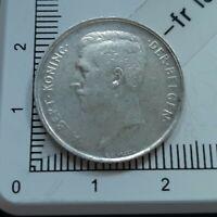 H13204 1 franc belge 1910 Albert  flamand pièce de monnaie royale argent