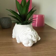 3D Animal Dog Vase Silicone Flower Pot Cement Mould Resin Clay Planter Mold