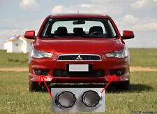Chrome Front Fog Light Cover Trim for 2008-2014 Mitsubishi Lancer