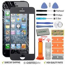 iPhone 5s 5c 5 Genuine Front Glass Screen Replacement Repair Kit Black+LOCA glue