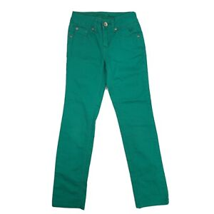 Justice Jeans Kids Girls Jeans Sz 8S Green Simply Low Super Skinny Stretch