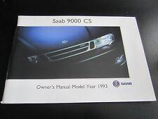 SAAB 9000 CS - 1993 UK OWNERS MANUAL HANDBOOK Turbo / 4 Door / Aero