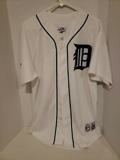 Vintage Detroit Tigers White Jersey Majestic Size Large