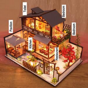 Bastelset Miniatur Puppenhaus Kit DIY Holz Haus Miniature Dollhouse Kinder Gifts