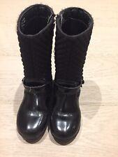 Girls Size 28 Pediped Black Boots