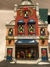 """Dept 56 Heritage Village Christmas In The City 1998 """"Scottie's Toy Shop Gift Set"""