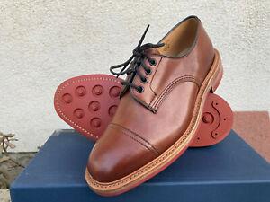 Tricker's George Beechnut Burnished Leather Cap Toe Shoe Men UK 9 US 10 Made UK