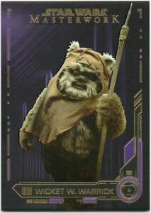 Wicket Warrick Ewok 1984 Star Wars Figure 2019 Masterwork PURPLE Only50 Cards 📈