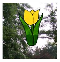 Single Tulip Stained Glass Effect Window Cling