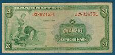 ALLEMAGNE - RFA - 20 DEUTSCHE MARK Pick n° 6 de 1948 en TB  J2802455L