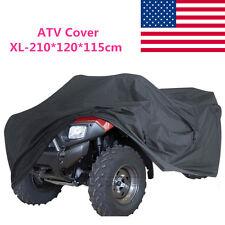 BLACK XL LARGE SIZE ATV COVER WATERPROOF 190T FIT FOR HONDA SUZUKI KAWASAKI QUAD