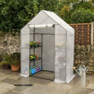 Walk In Greenhouse Replacement Cover Grow House Protector – White PE Cover Only