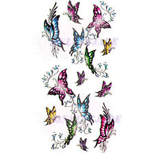 Temporary Tattoo Transfer Removable Arm Body Sexy Cute Colorful Butterfly X018