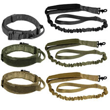 LIVABIT Tactical K9 Dog Collar or Leash Harness Strap Training Heavy Duty Bungee