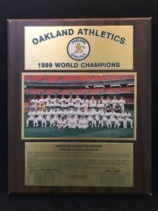 "Oakland Athletics 1989 World Champions Plaque WS2   16""x13"""