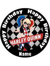 HARLEY QUINN 19CM KOPYKAKE EDIBLE ICING IMAGE CAKE TOPPER #1