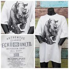 Marc Ecko Men's Size XXL 3XLB White Big Rhino Logo Embellished S/Sleeve T-shirt
