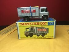 RARE VINTAGE 1969 LESNEY MATCHBOX #11-D SCAFFOLD TRUCK MINT IN BOX UNPLAYED WITH