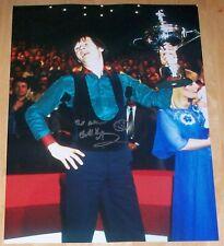 ALEX HIGGINS WORLD CHAMPION SNOOKER PERSONALLY SIGNED AUTOGRAPH 16X12 PHOTO