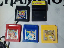 Pokemon Blue Red Yellow Pinball Card Game Good / New Batteries GB GBC Game Boy