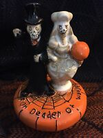 YANKEE CANDLE BONEY BUNCH 2011 WEDDING COUPLE JAR TOPPER. VHTF